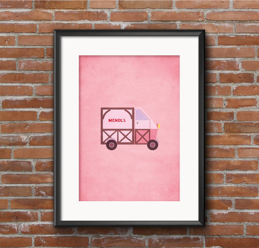 The Grand Budapest Hotel Mendl's Van Alternative Minimal Movie Poster