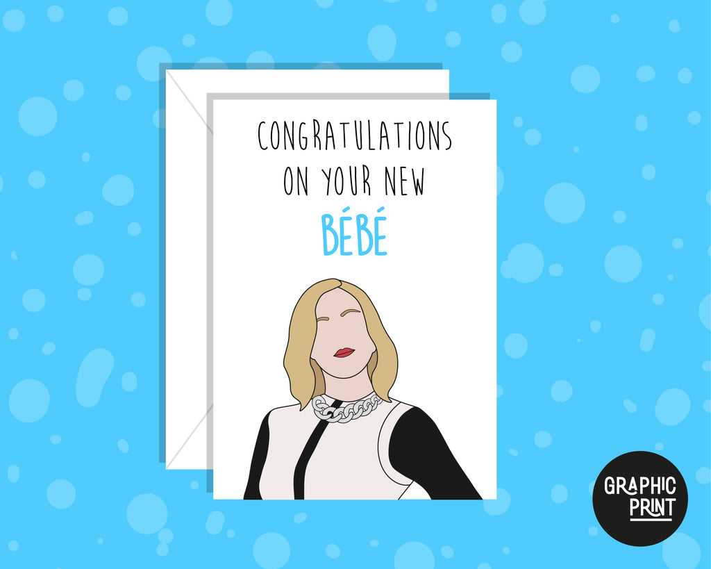 Personalised Congratulations On Your New Bebe, Moira Rose Schitt's Creek New Bebe Card