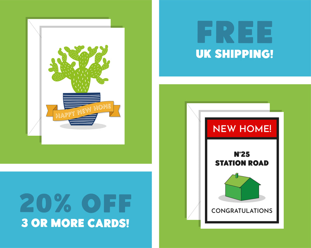 Personalised Monopoly Board Card, Moving House Card, Housewarming Card