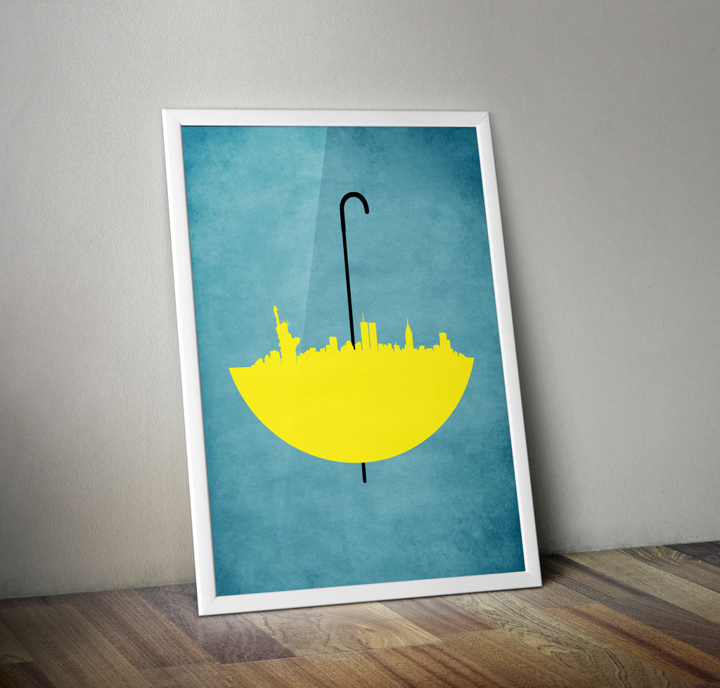 How I Met Your Mother Skyline Alternative Minimal TV Poster