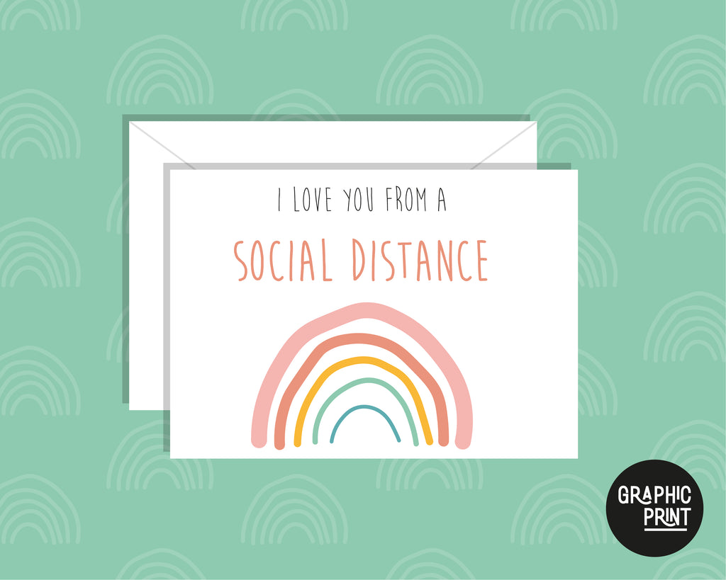 I Love You From A Social Distance, Missing You Greeting Card