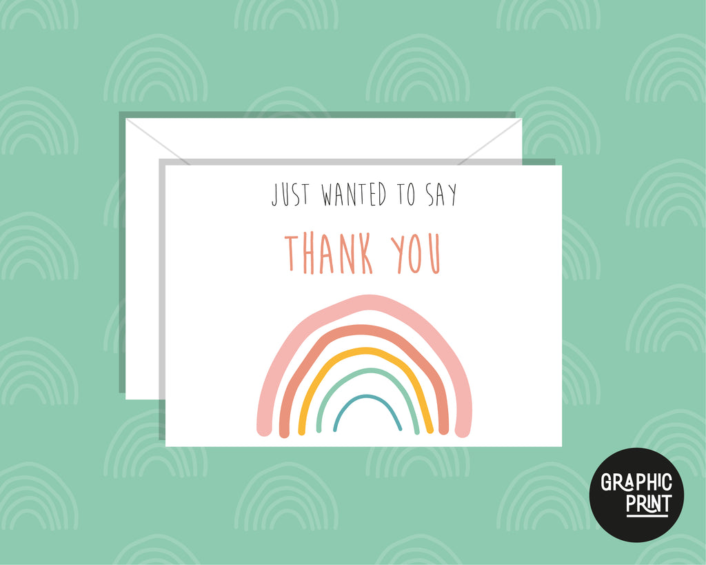 Just Wanted To Say Thank You, Thank You Greeting Card