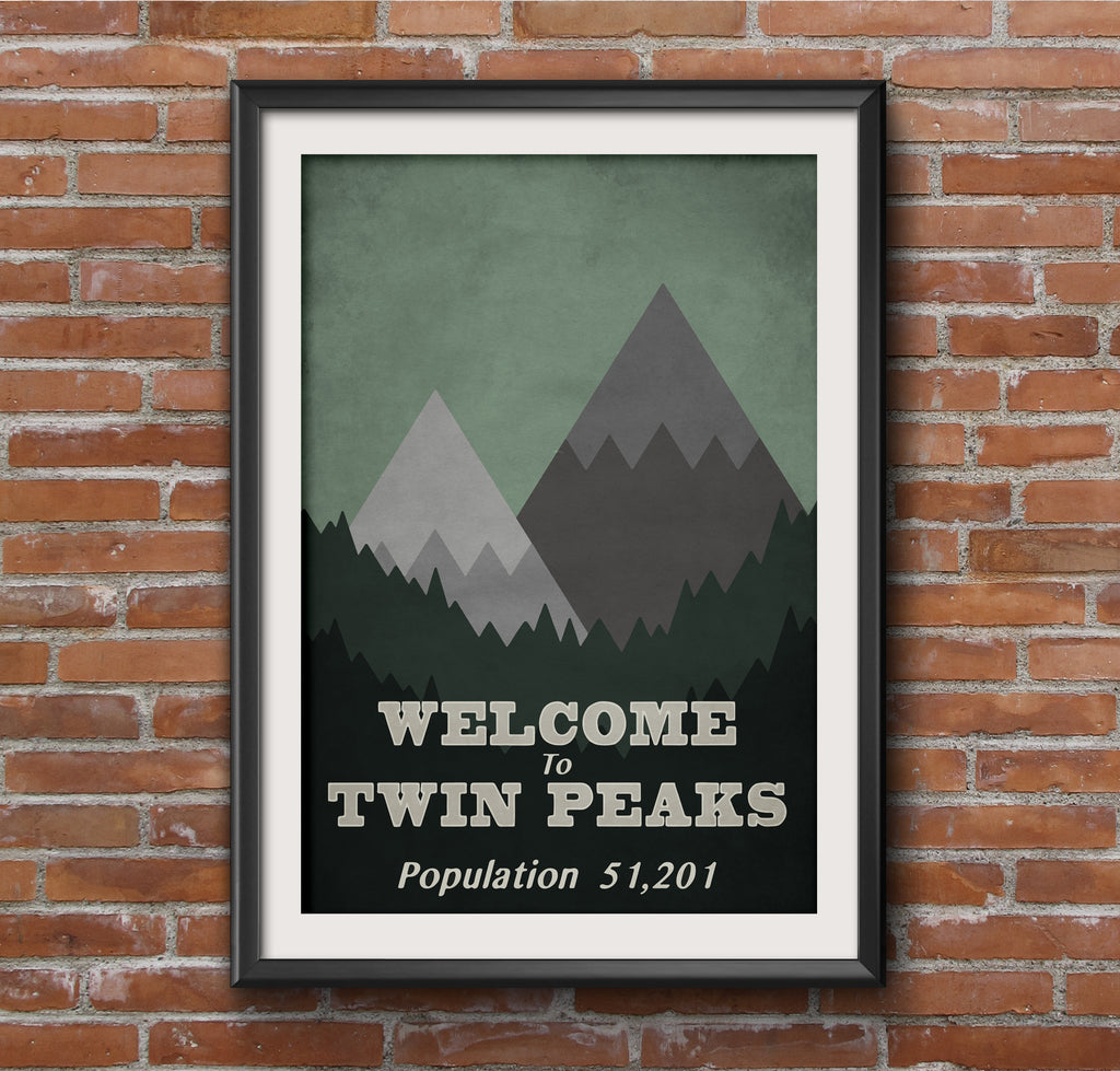 Welcome to Twin Peaks Alternative Minimal TV Poster