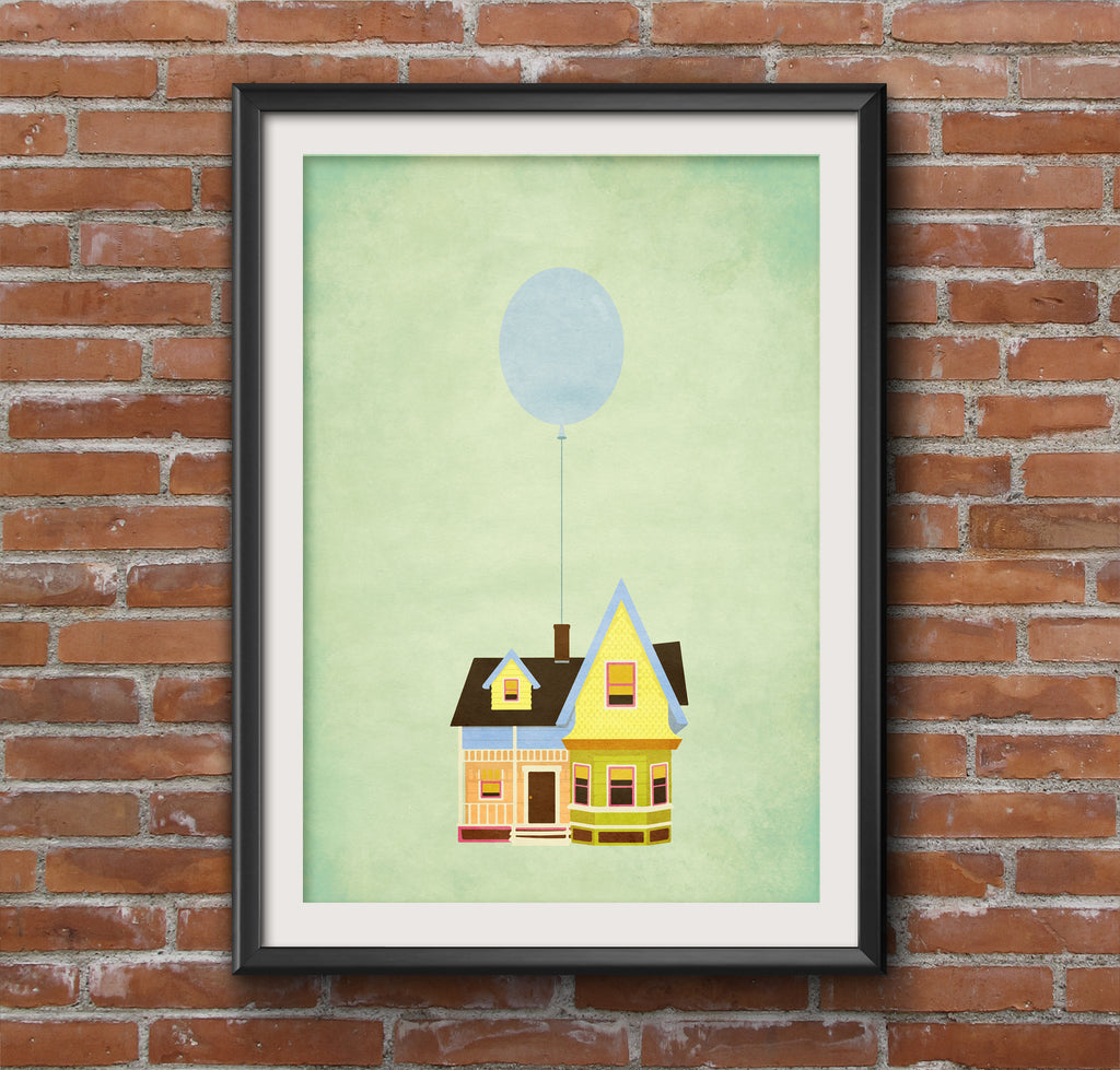 Up Balloon House Alternative Minimal Movie Poster