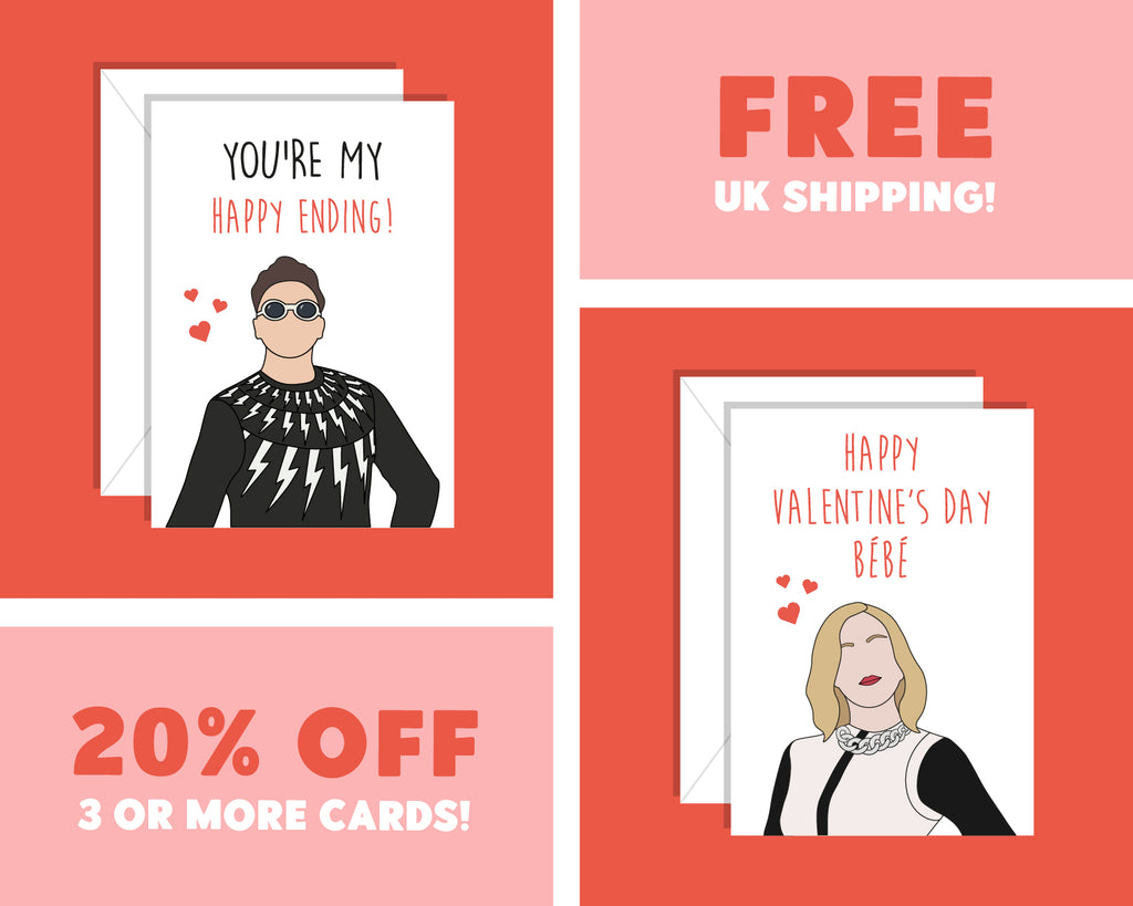 You're My Happy Ending Valentine's Day, David Schitt's Creek Valentines Day CardYou're My Happy Ending Anniversary, David Schitt's Creek Anniversary Card