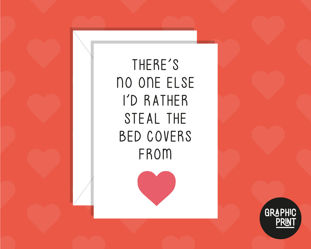 Steal The Bed Cover From, Funny Valentine's Day Card