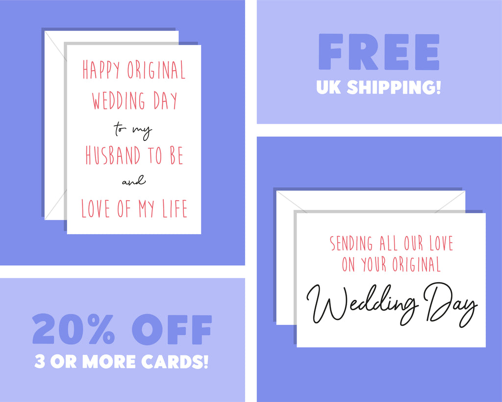 All Our Love On Your Original Wedding Day, Postponed Wedding Day Card
