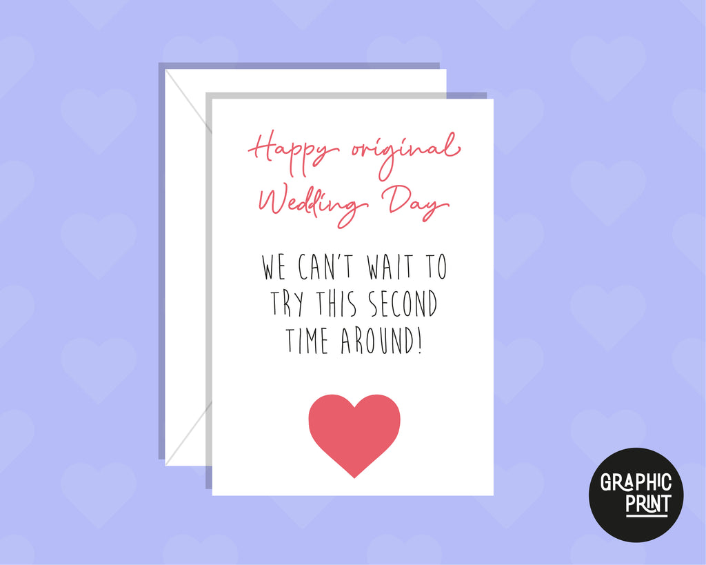 Can't Wait To Try This A Second Time Around, Postponed Wedding Day Card