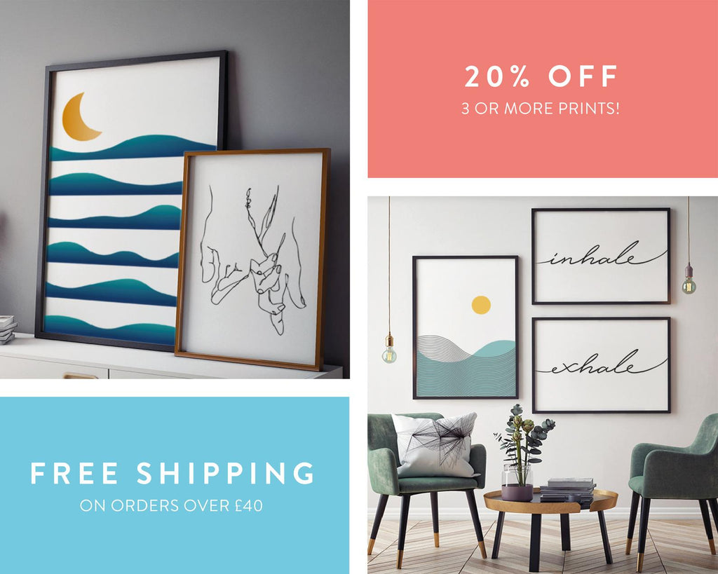 Happy Place Gallery Wall Bundle Set of 10 Prints