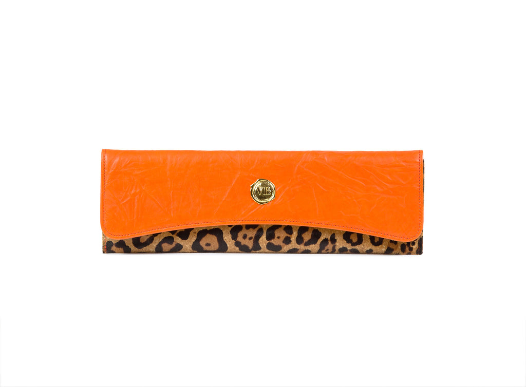 PORTOFINO CLUTCH ANIMAL PRINT LEATHER