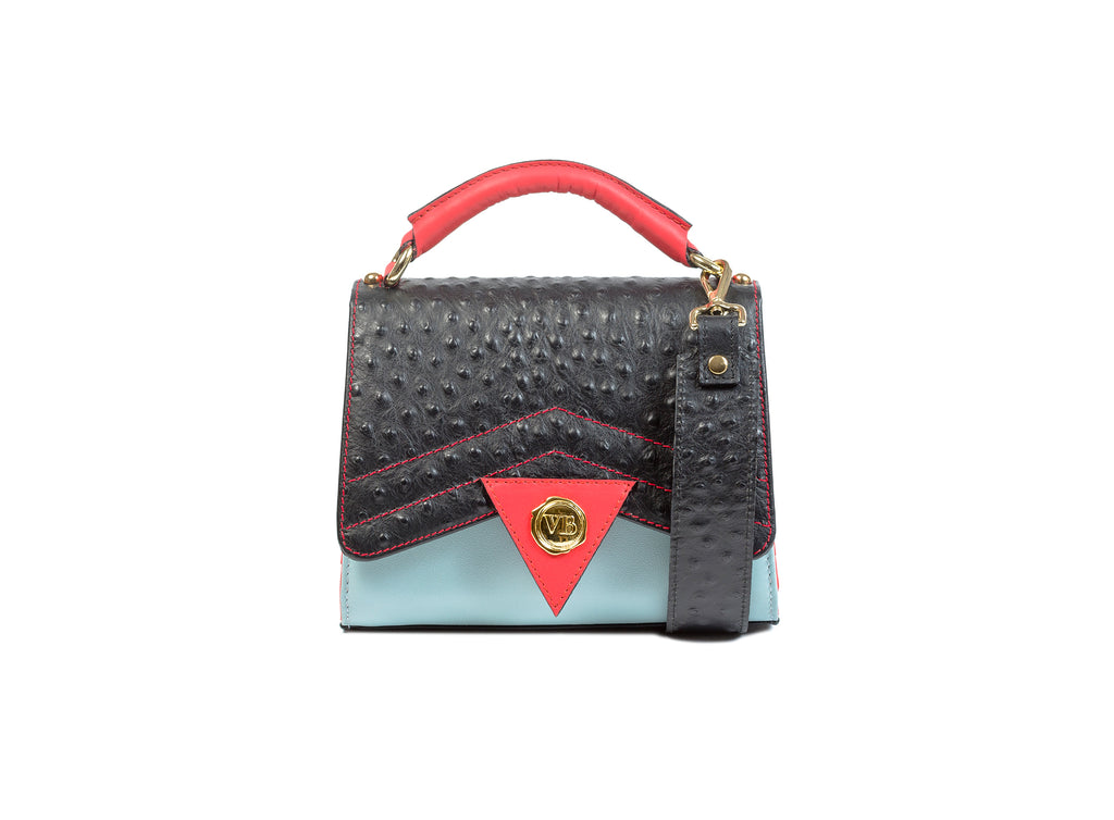 BOVARY MINI BAG BLACK OSTRICH