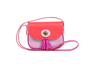 ARWEN SMALL BAG LILAC CORAL RED AND MAGENTA