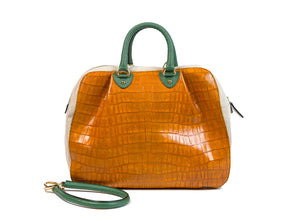 KALOS XL BAG ORANGE CLAY SNAKE CROCODILE