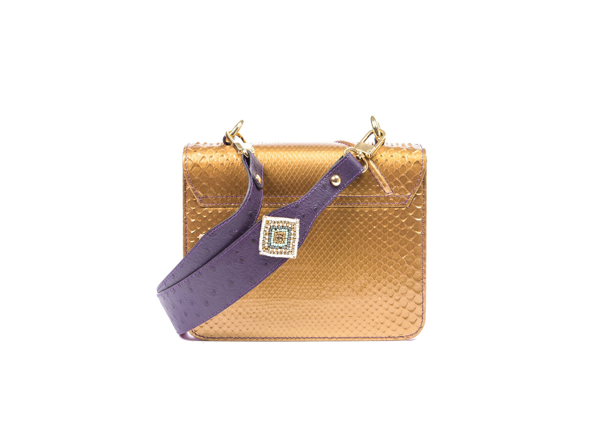 NAILAH LUXURY BAG METALLIC GOLD PHYTON