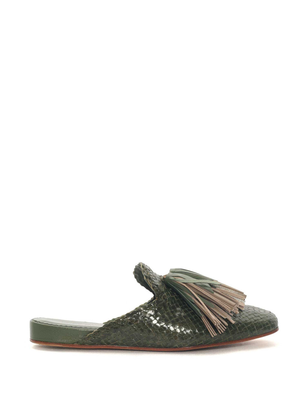 MOSS LEATHER MULE