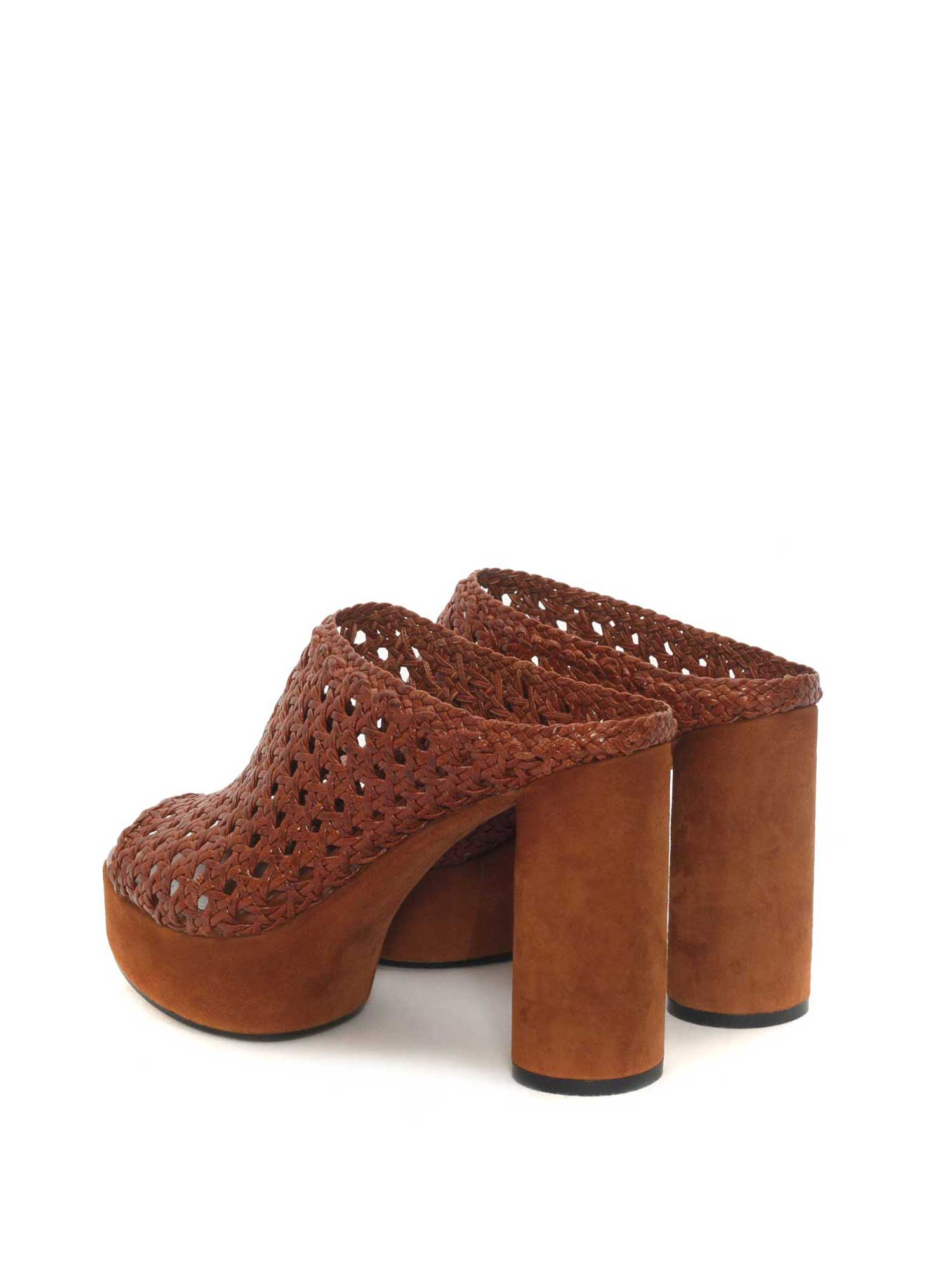 TOFFEE LEATHER HEEL SANDAL