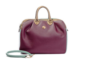 KALOS XL BAG BORDEAUX AND MINT GREEN