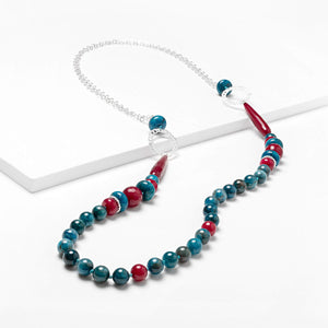 Apatite Agate Long Necklace