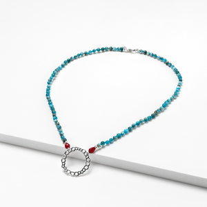 Apatite and Agate Necklace