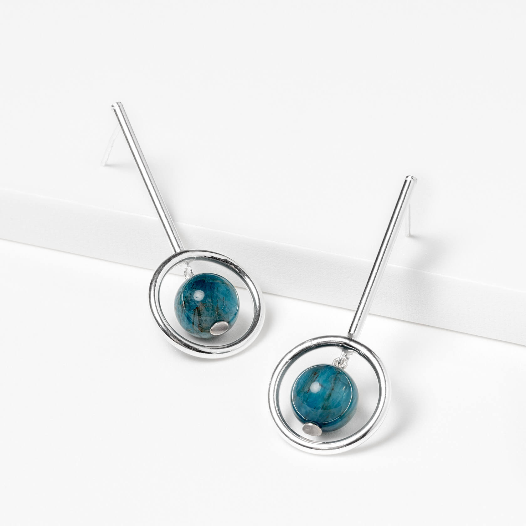 Apatite Rigid Earrings (long)