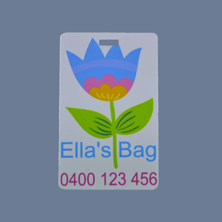Personalised Luggage/Bag Tags - Metal | Fast Fox Printing