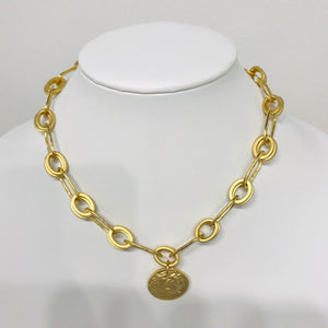 Roman Gold Medalion Necklace 1