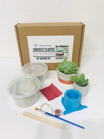 DIY Dekokrete  Concrete Planter Kit