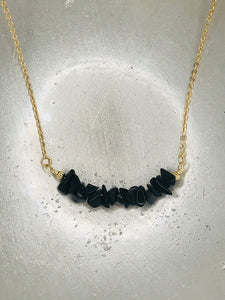 Onix Stone Gold Necklace