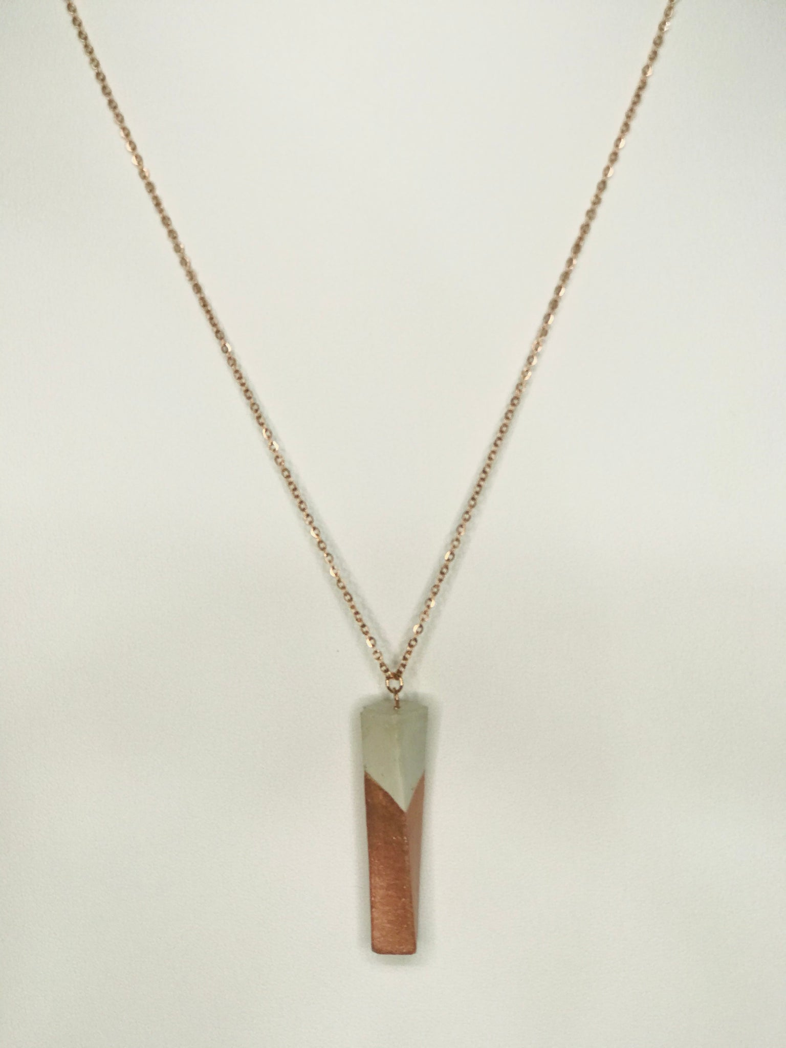 Twisted Concrete Necklace