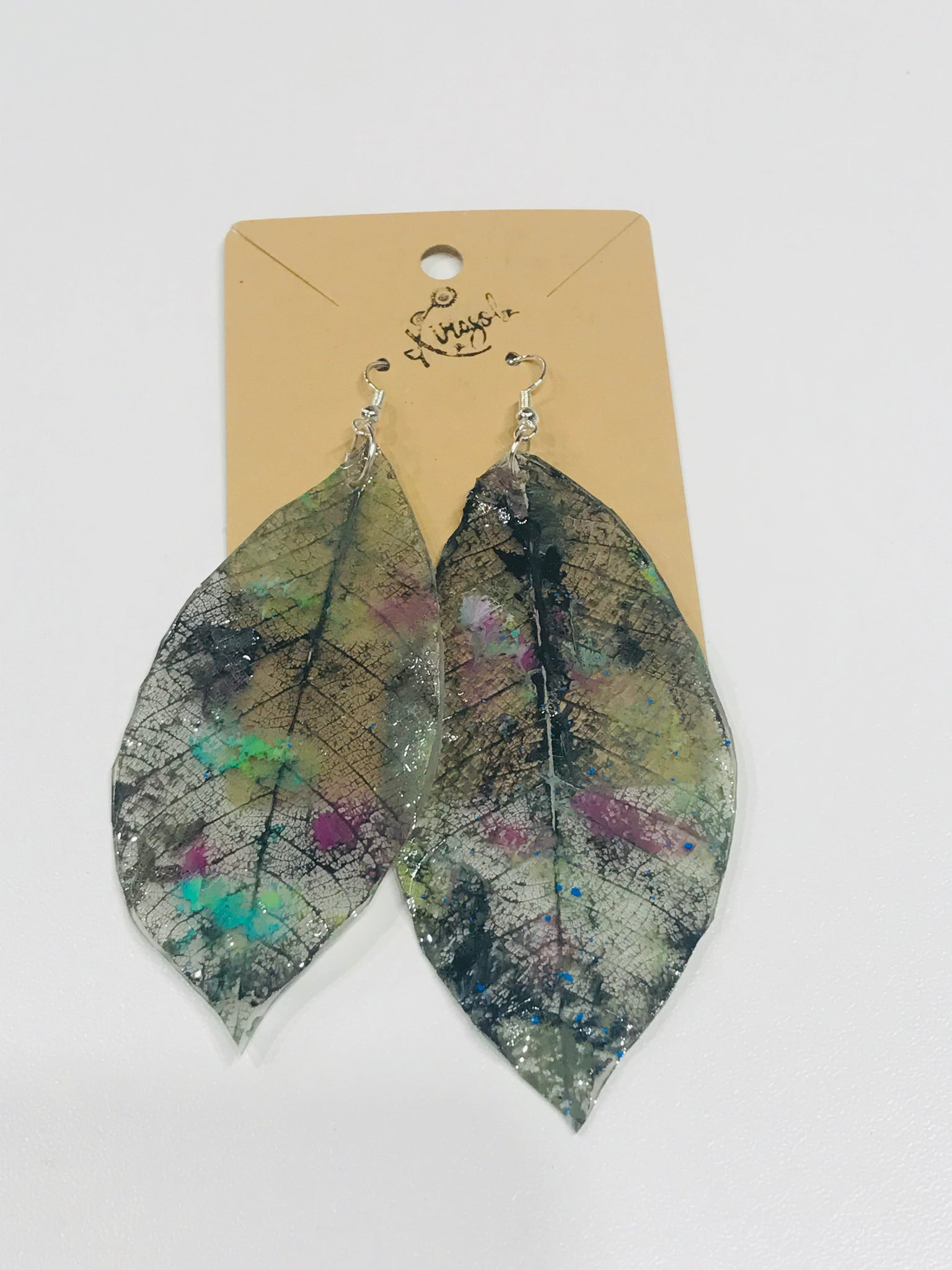 Colored Leaves Earrings  2