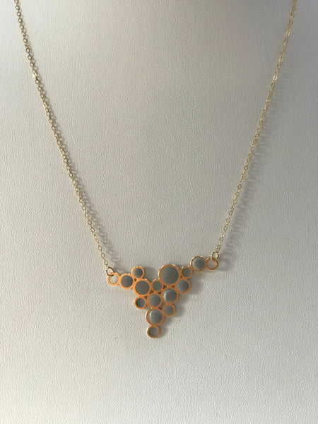 Gold Bubble Pendant