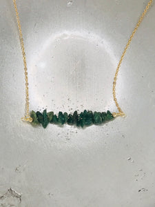 Emerald Stone Gold Necklace
