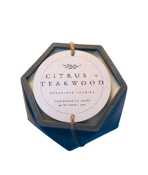 Citrus + Teakwood Soy Candle 5.2oz