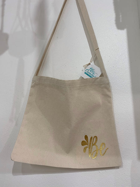 "Messenger Tote Bag Natural ""B"""