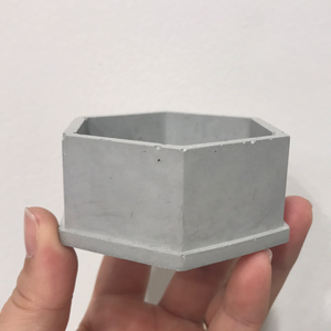 Concrete Hexagon Jewelry Box