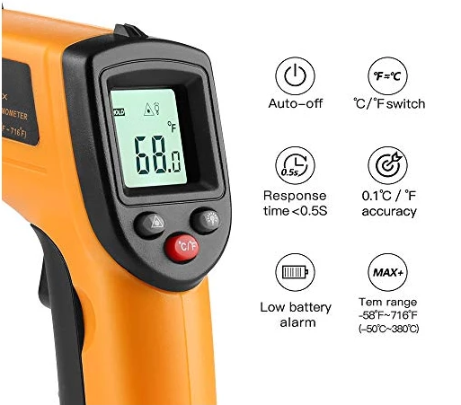 💥💥(Buy 2 Free Shipping)Laser Infrared Thermometer Non-Contact Digital Temperature Gun(-58°F~752°F)💥💥