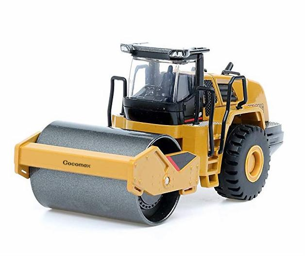 Scale Diecast Road Roller Toy, Metal Construction Vehicles Model Toy for Kids (Road Roller)