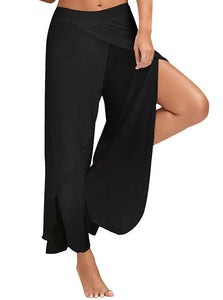 Irregular slit sports casual yoga pants