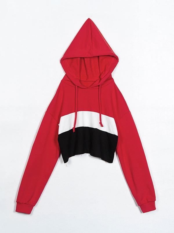 Color Block Letter  casual sports set