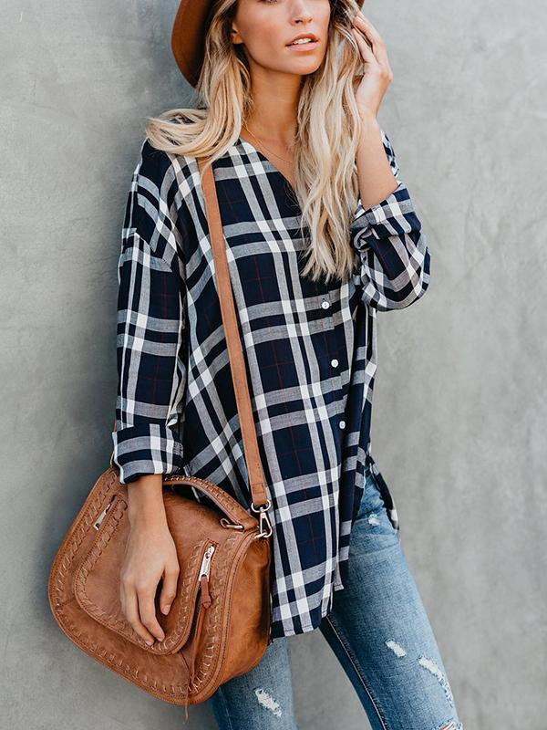 Plaid Patchwork Shirt