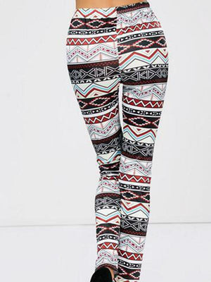 Irregular print elastic leggings