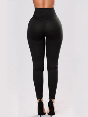 Rivets lace-up sports yoga pants