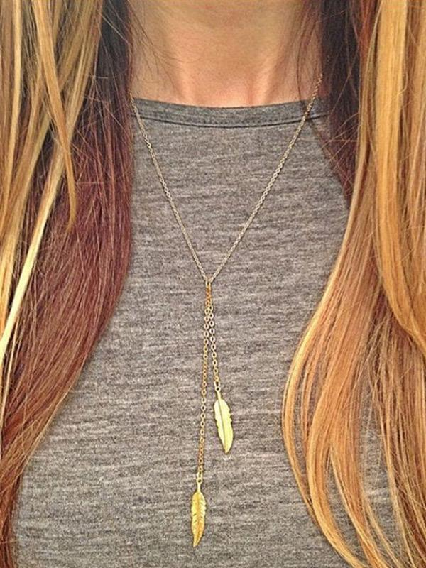 Feather Leaf Choker Necklaces
