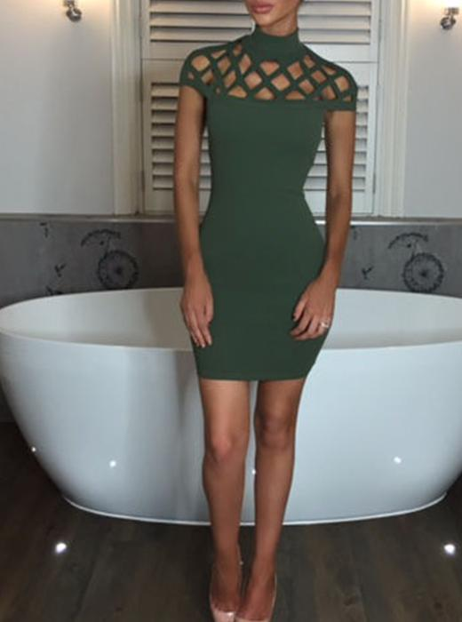 Sexy Hollowed-out Bodycon Dress