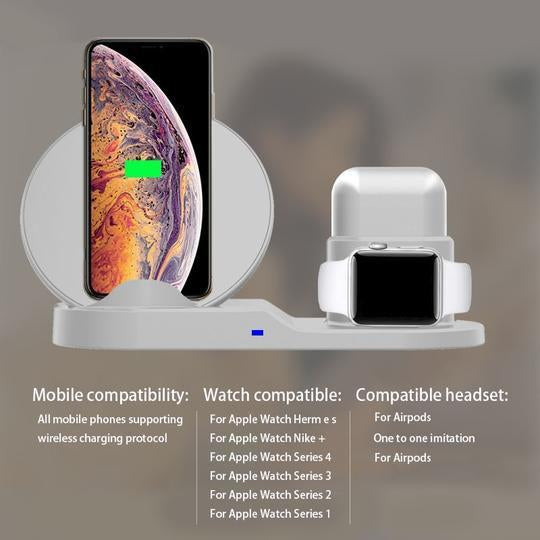 Fast Charging Wireless Charger For Apple Watch For Iphone And Airpods