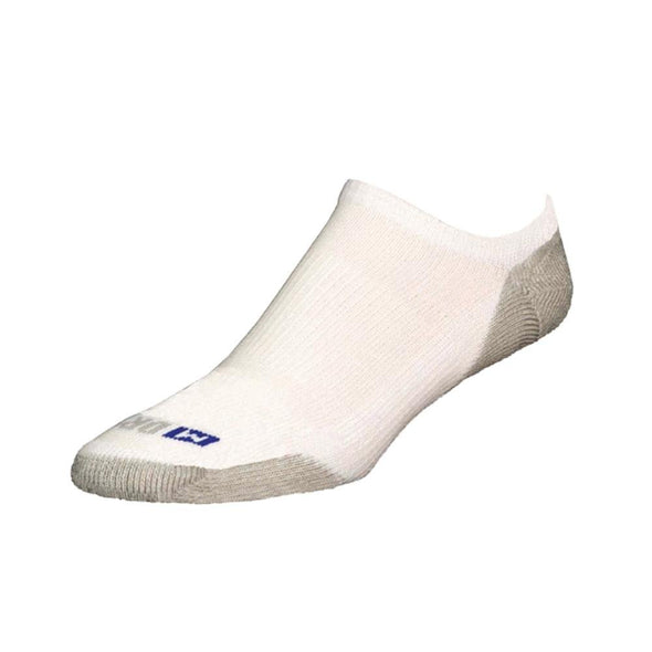 Drymax Sport Unisex Running No Show White/Gray Sock Size:10-13/Shoe Size: 6-12