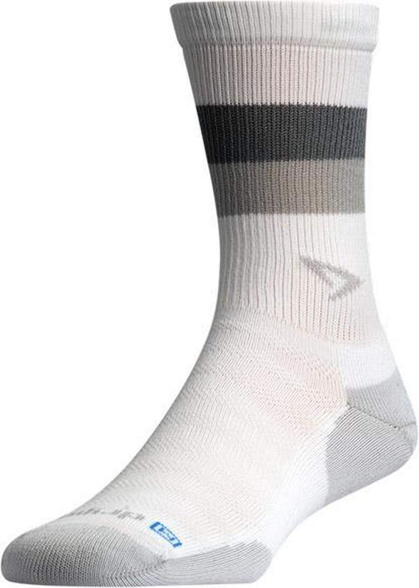 Drymax Running Lite-Mesh Crew, White with Anthracite/Gray