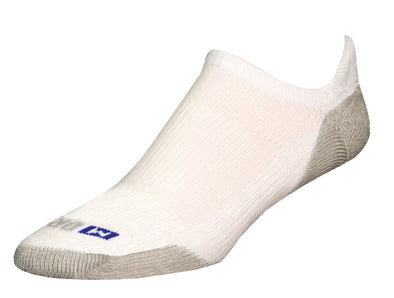 Drymax Run No Show Tab Socks, White/Grey, X-Large