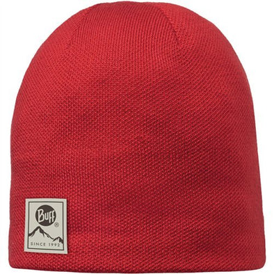 Buff Knitted & Polar Hat Red