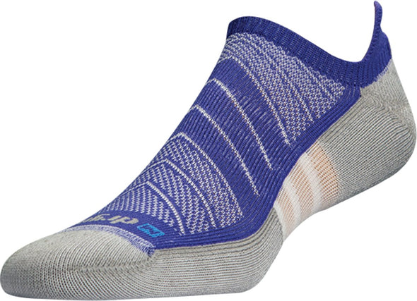 Drymax Unisex Max Cushion Run No Show Tab Socks,Purple,L (Mens 8.5-10.5 / Womens 10-12)